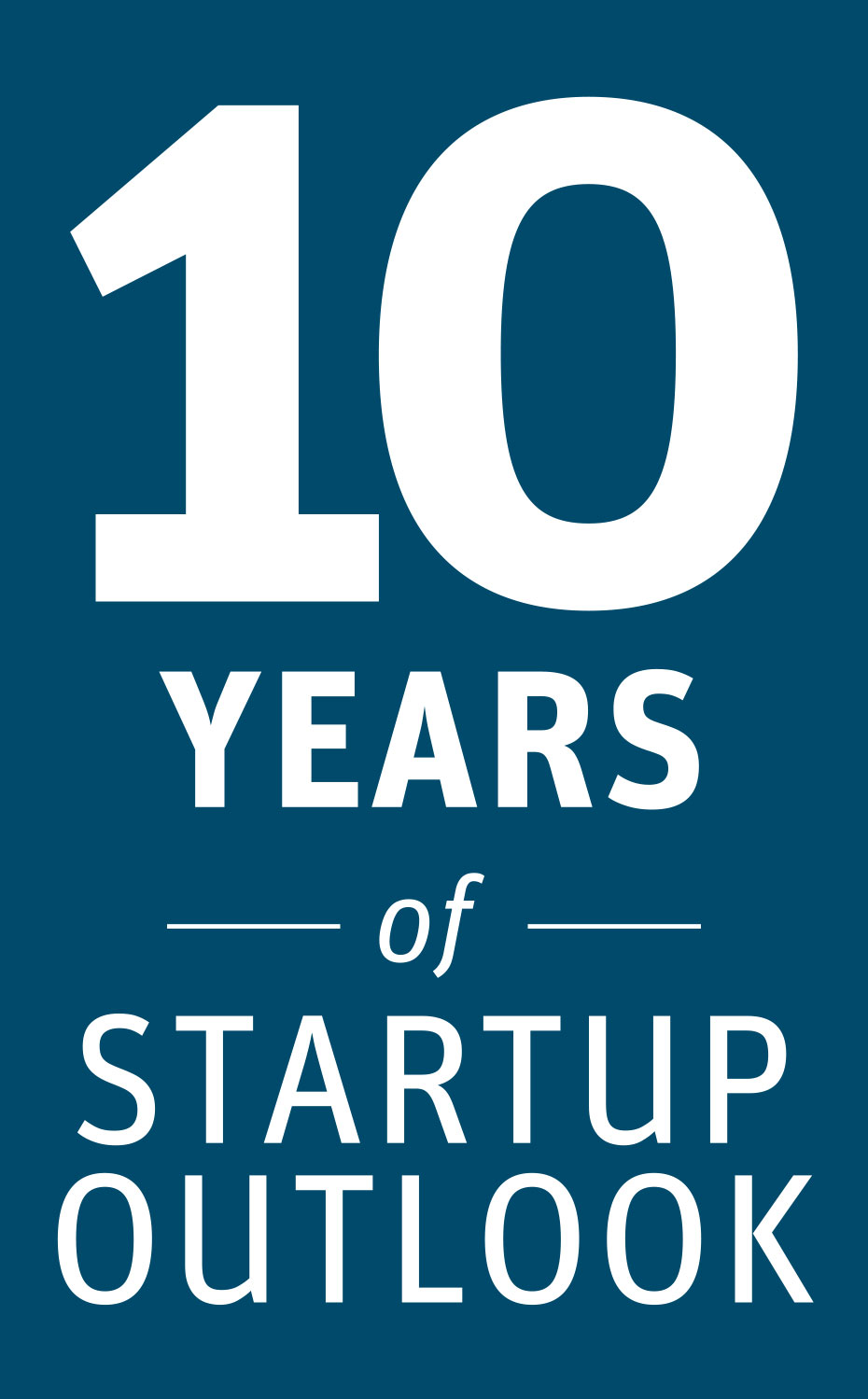 Image of the words 10 years of Startup Outlook