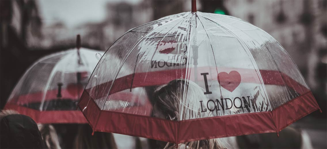 Umbrella with I heart London