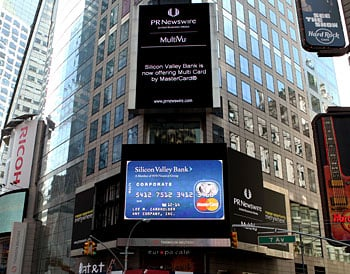 Silicon valley bank now offering multi card by mastercard photo multi card ad in time square colourmoves